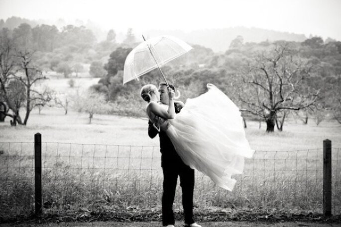 Qué hacer si llueve en mi boda - Foto Gia Canali Photography