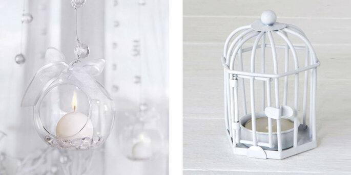 Bola portavelas de vidrio 4 unidades
