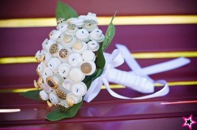 Brautstrauss aus Knöpfen