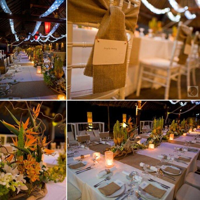Utiliza ideas en tendencia para la decoración de tu boda - Foto Kern Photo