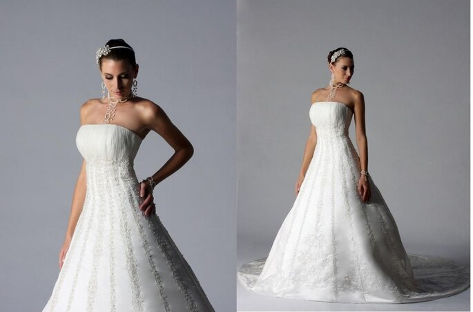 Essence 2011, vestido de novia con suave pedrería