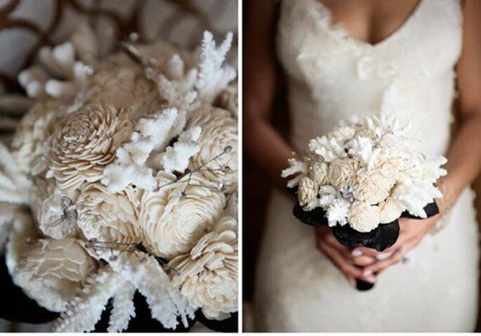 Ramo de novia con inspiración invernal - Foto Stephanie Williams
