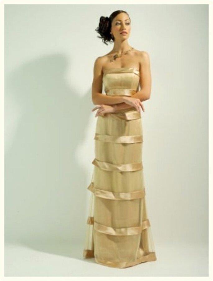 El traje de novia puede ser en otros tonos