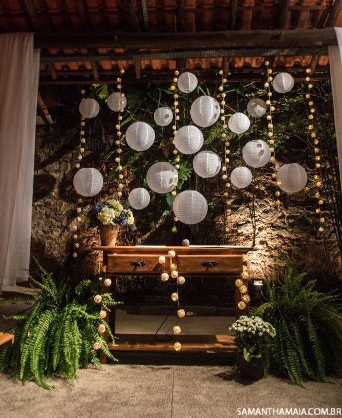 decoração com balões em festa de noivado