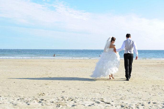 Real wedding sur la plage - Florence Chesneau