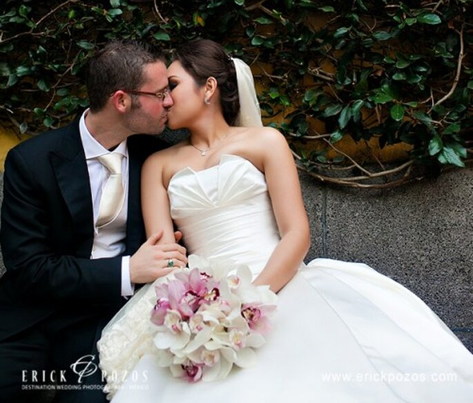 Ramo en colores claro para novia tendencia. Fotografía Erick Pozos