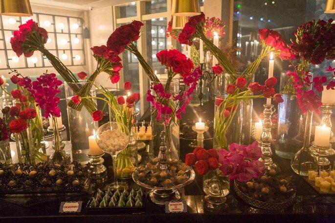Decoração floral para casamento