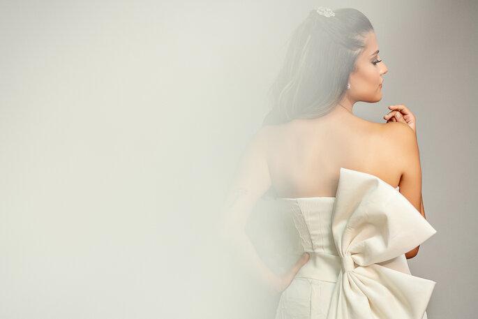 vestido de noiva com laço