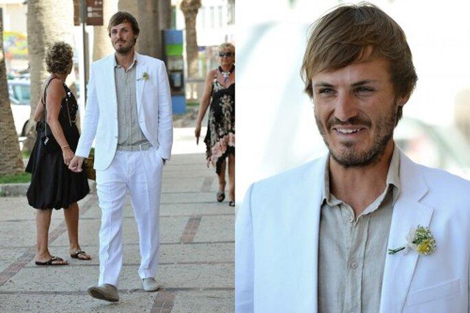 El novio y ya marido de Danae, Xavi. Foto: Katerina Cladera