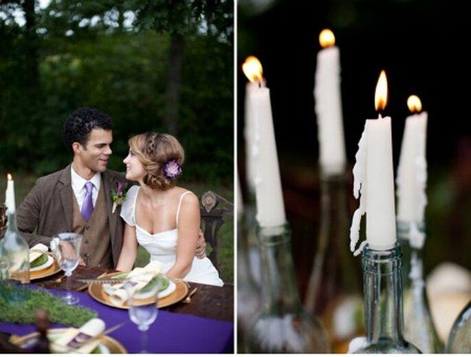 Detalles de bodas en tonos violetas - Foto: Green Wedding Shoes