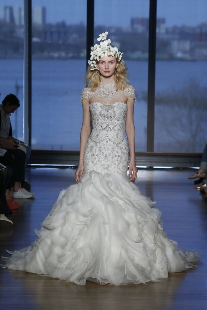 Vestidos de novia 2015 con joyas integradas - Foto Ines Di Santo