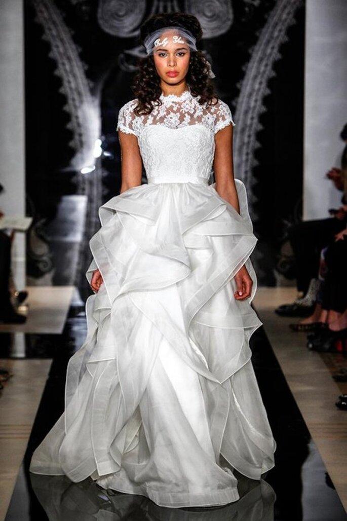 Robe de mariée Reem Acra 2014 - Photo Reem Acra Facebook