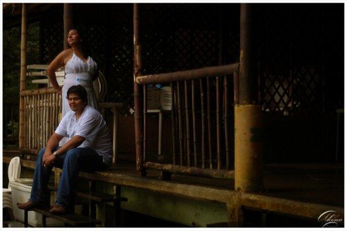 Foto de preboda en una localidad exótica - Foto Emmanuel Aquino
