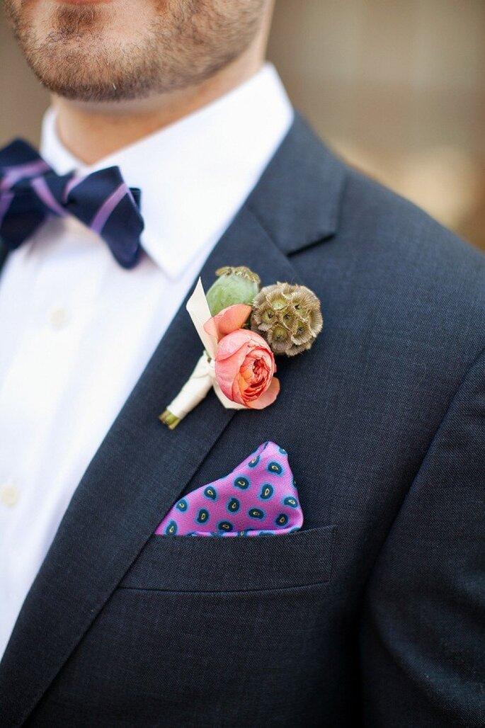Detalles en color violeta para la decoración de tu boda - Foto Wren and Field Photography