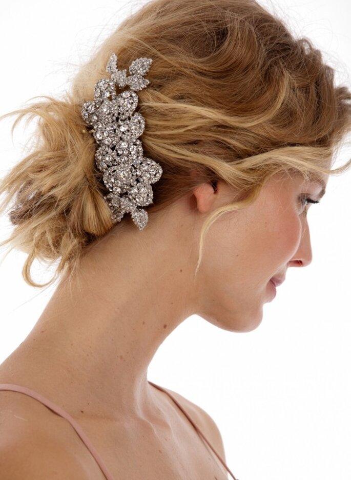 Cómo elegir el mejor tocado de novia - Foto Untamed Petals