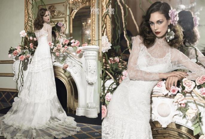 Vestidos de novia 2014 con estilo vintage para una novia romántica - Foto YolanCris