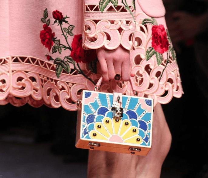 Dolce & Gabbana estampado pastel recortaada
