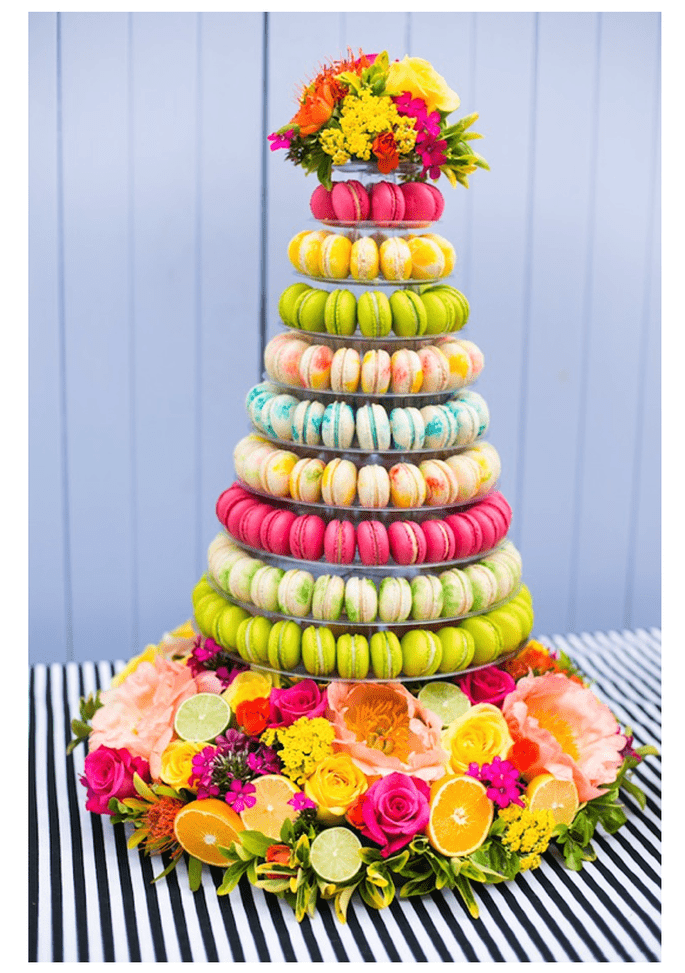 Macarons para el postre de tu boda - Foto Anneli Marinovich Photography