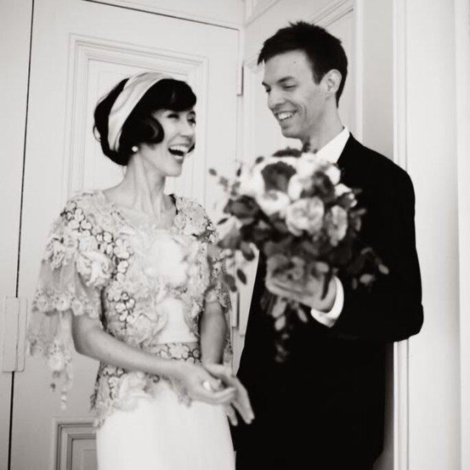 Cómo peinar mi fleco el día de la boda - Foto Duston Todd