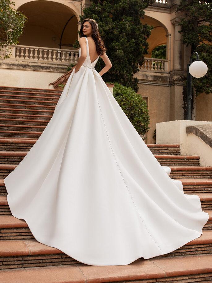 vestido de novia cola catedral