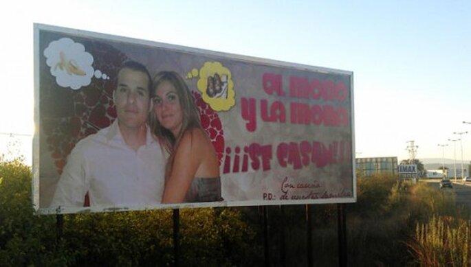 vallas boda publicidad