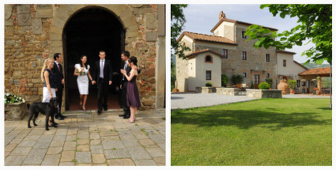 Heiraten in mediterraner Umgebung: Buggiano in der Toskana.