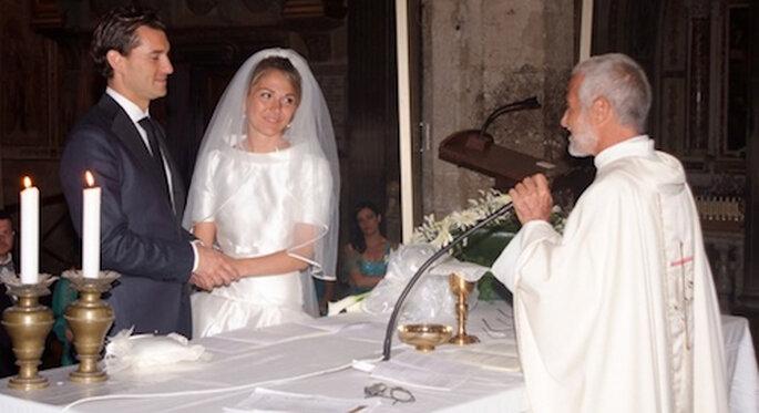 Ceremonia religiosa en el Duomo di San Gimignano (Toscana)