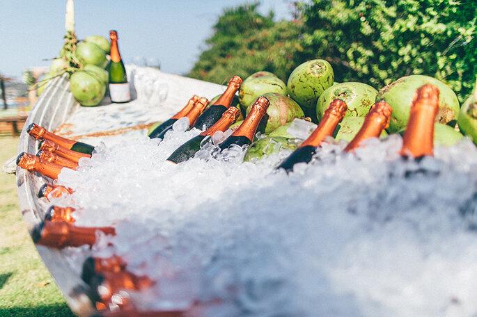 Canoa com bebidas