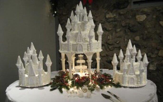 Pastel de bodas de castillo. Foto de castlefarms.com