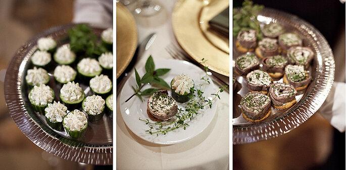 Catering de una boda en un viñedo. Foto: Sarah Culver Photography