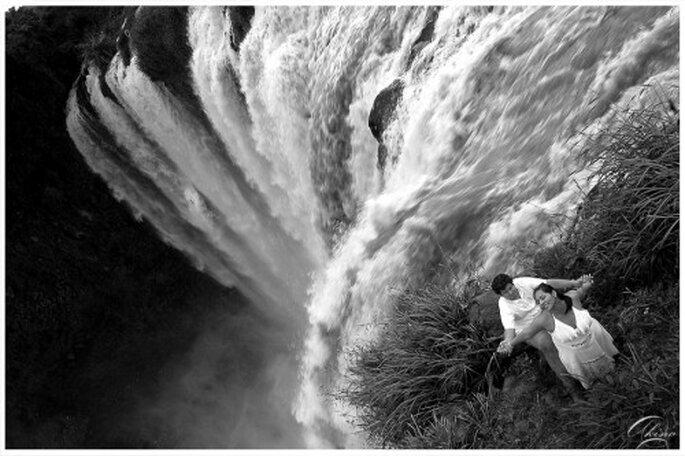 Sesión de fotos de preboda en Salto de Eyipantla, Veracruz - Foto Emmanuel Aquino