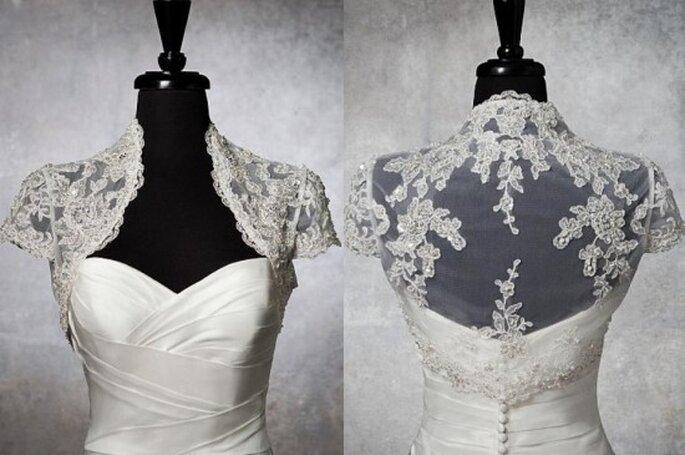 Accesorios para vestidos de novia. Foto del sitio de Justin Alexander.