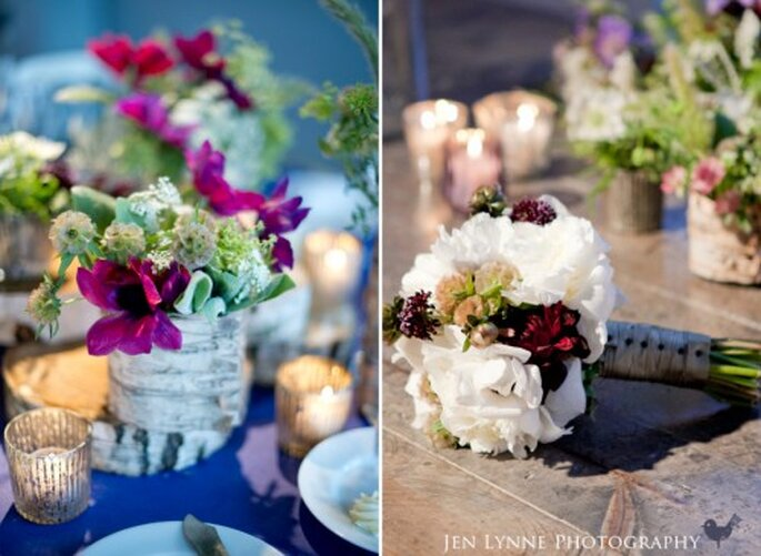Boda temática, decoración floral. fotografía de JenLynne