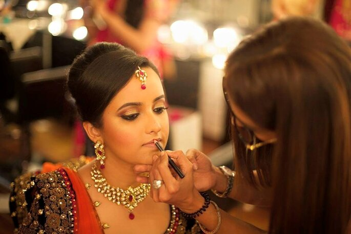 Photo: Chandni Singh makeup artist.