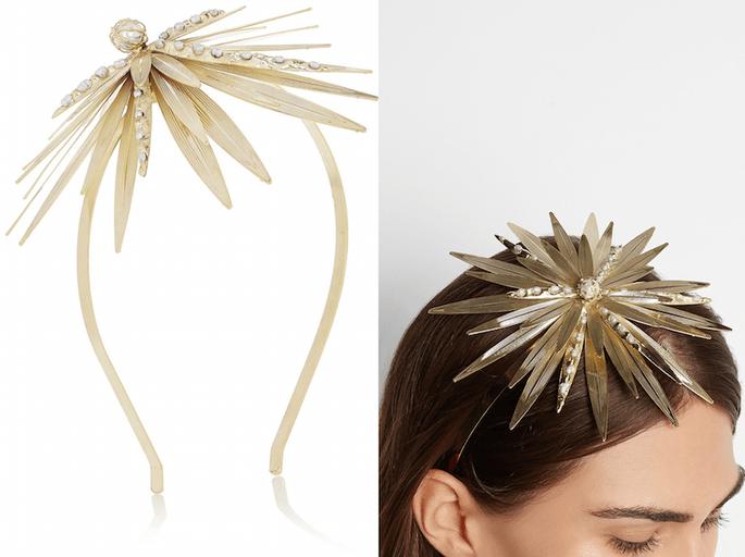 Accesorios en color dorado para invitada de boda fashionista - Rosantica en Net a Porter