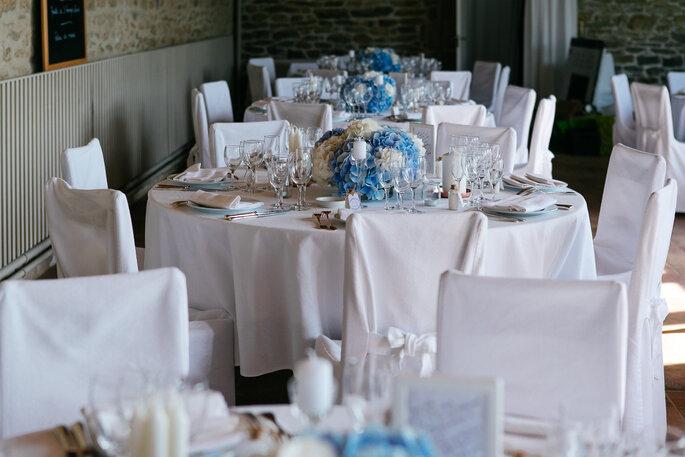 table de réception- mariage Bretagne morbihan