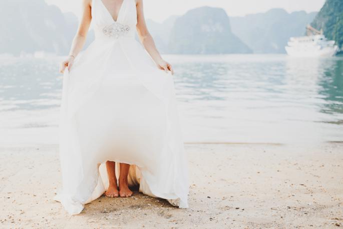 Este hermoso vestido va a la par del paisaje. Foto de David One
