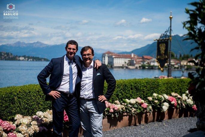 Angelo Garini con Ivan Quaglia di Villa e Palazzo Aminta (Foto: abriele Basilico – Wedding Photography)