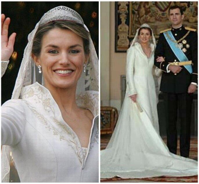 Robe de mariée de Letizia, princesse d'Asturies