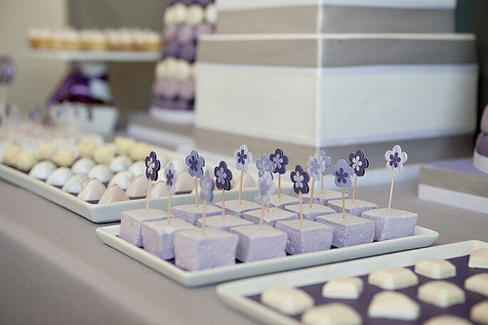 Mesa de dulces veraniega. Foto: Shauna Younge Dessert Tables