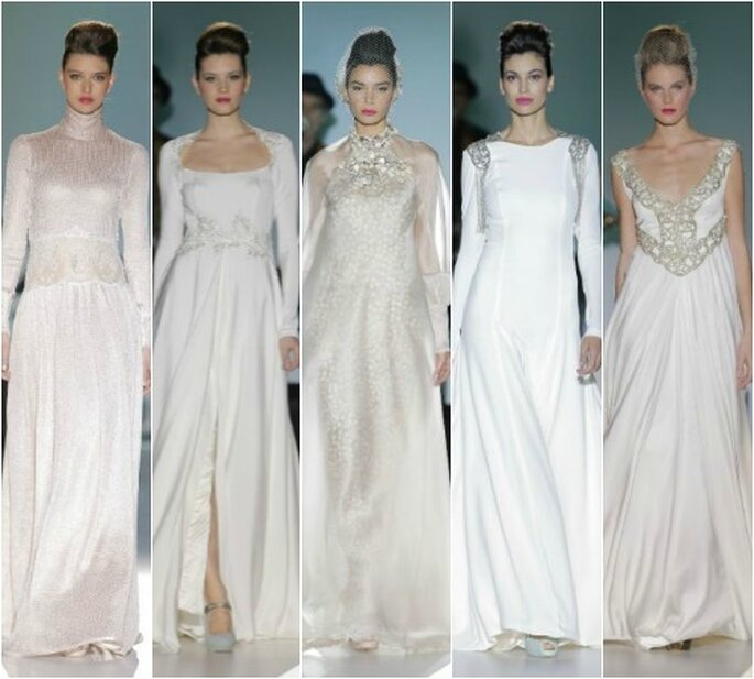 Isabel Zapardiez, colección 2014. Foto: Barcelona Bridal Week