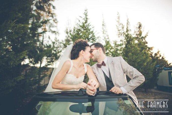 Gli sposi dopo la cerimonia - Foto: The Framers