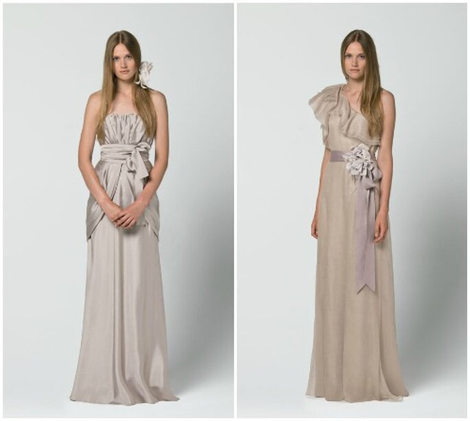 Due idee color mauve per una sposa semplice ma di classe. Max Mara 2013 Bridal Collection. Foto: www.maxmara.com
