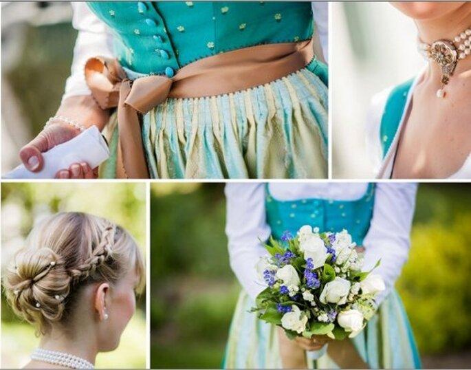 Verspielte Details bei der trachtigen Hochzeit machen den Style aus – Foto: Marina Rinke