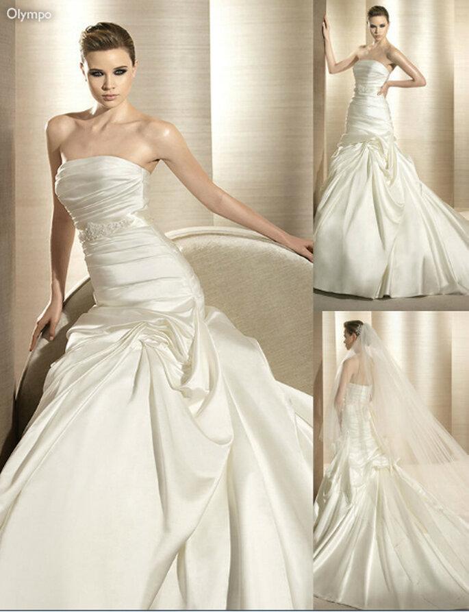 Vestido de novia elegante con forma de sirena - Foto: Atelier Diagonal