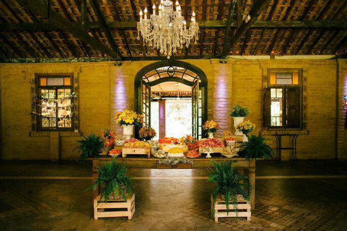 mesa de doces casamento rustico