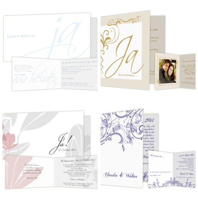 Individuelle Hochzeitskarten durch eigene Gestaltung - Foto: www.hochzeitskarten-traum.de