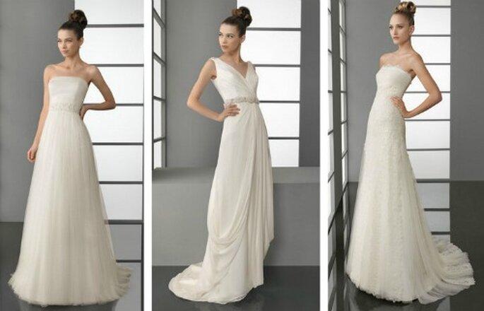 Tre modelli semplici per una sposa giovane ma elegante. Aire Barcelona Collezione 2012