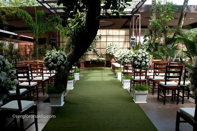 decoração verde casamento