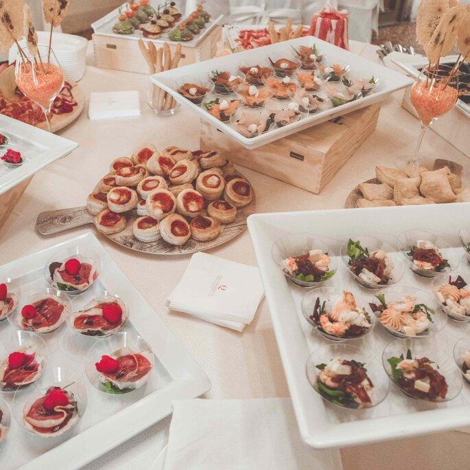 Buffet di aperitivo a Villa Quaranta Tommasi Wine Hotel & SPA